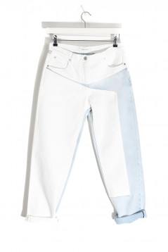 CEDRIC CHARLIER Asymmetric Panel Jeans