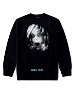 OFF WHITE Screaming Girl Crewneck